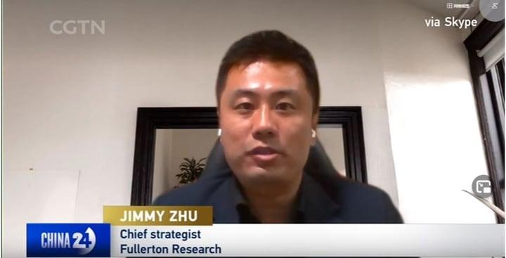 Jimmy Zhu LIVE On CGTN 9 April 2021