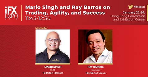Mario Singh and Ray Barros Talk Trading at iFX EXPO Asia Stage